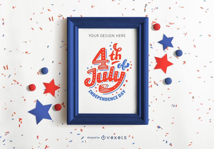 4th of july frame mockup