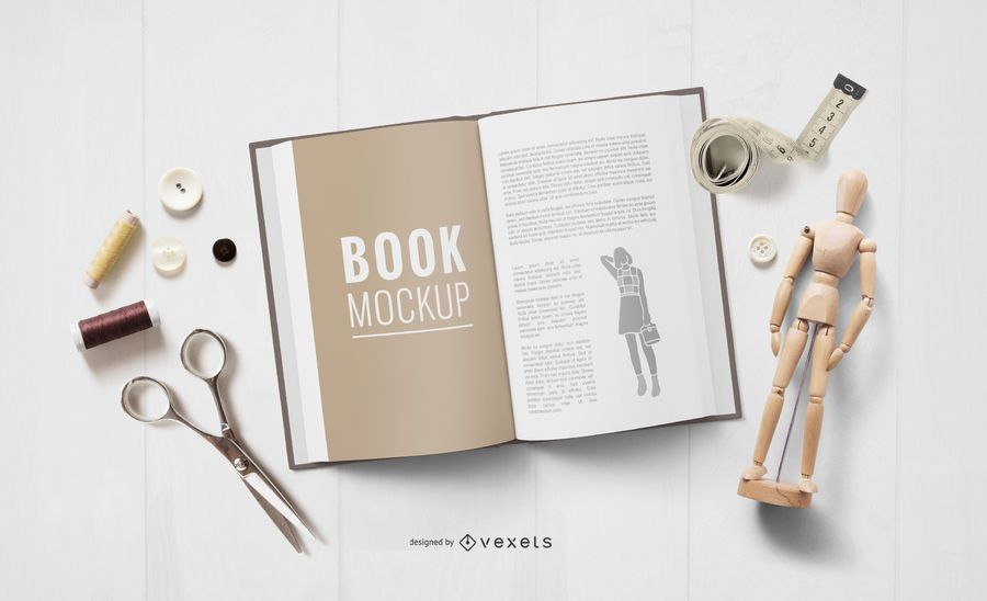 Crafting Elements Open Book Mockup