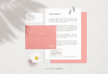 Stationery Elements Mockup Design