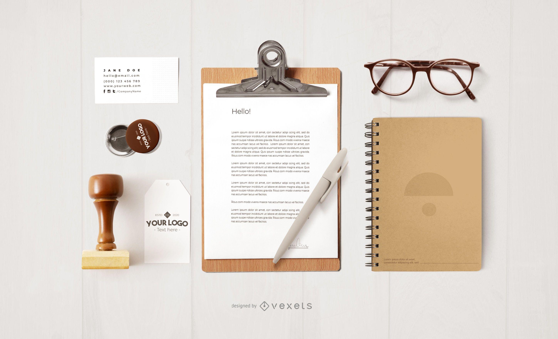 Office Stationery Mockup Design