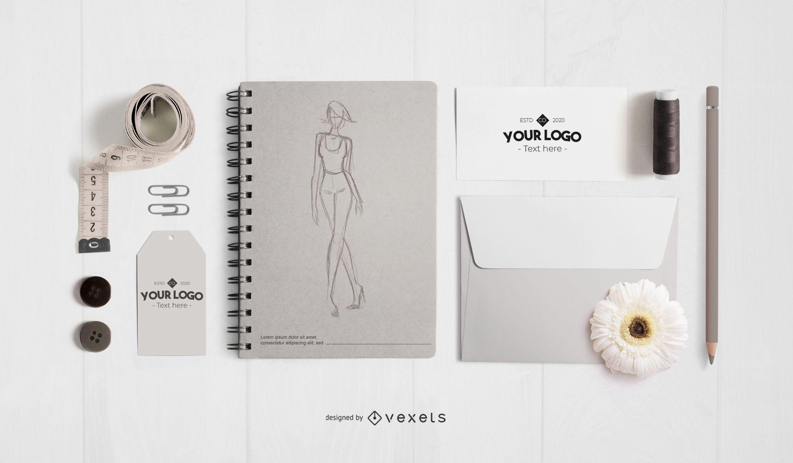 Fashion Studio Elements Mockup Design