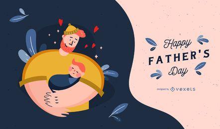 Diseño de ilustración lindo del día del padre