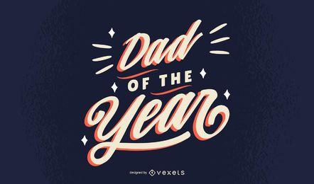 Diseño de letras papá del año