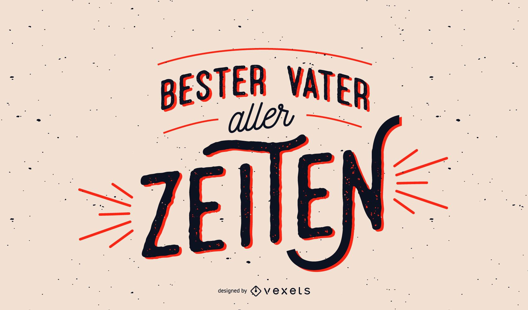 Best father german lettering