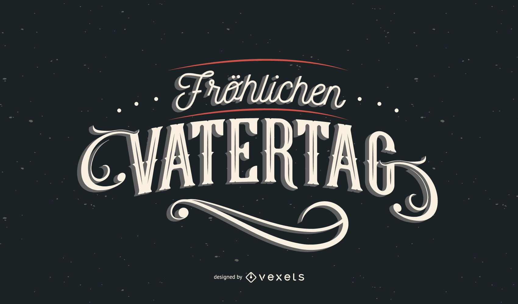 Happy father's day german lettering