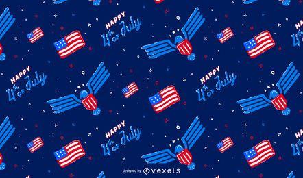 Diseño del patrón del día de la independencia