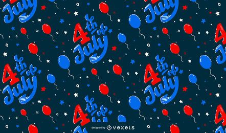 4th of july balloons pattern design