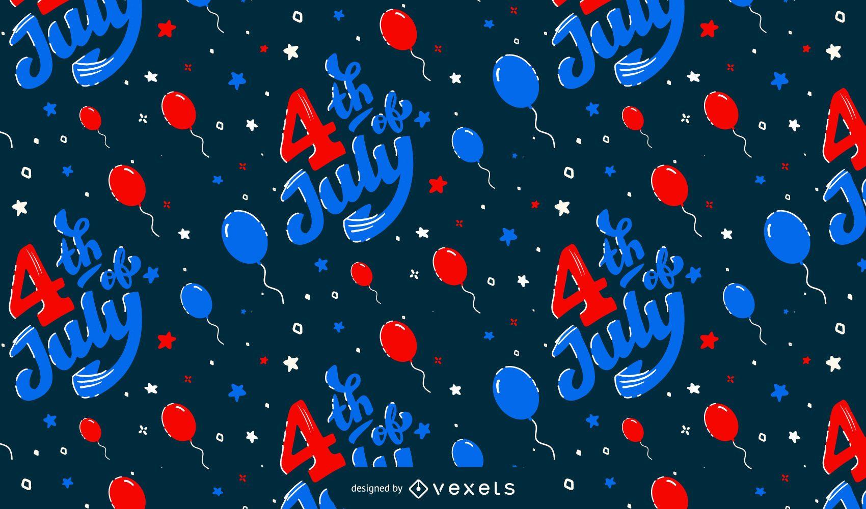 4 de julio diseño de patrón de globos