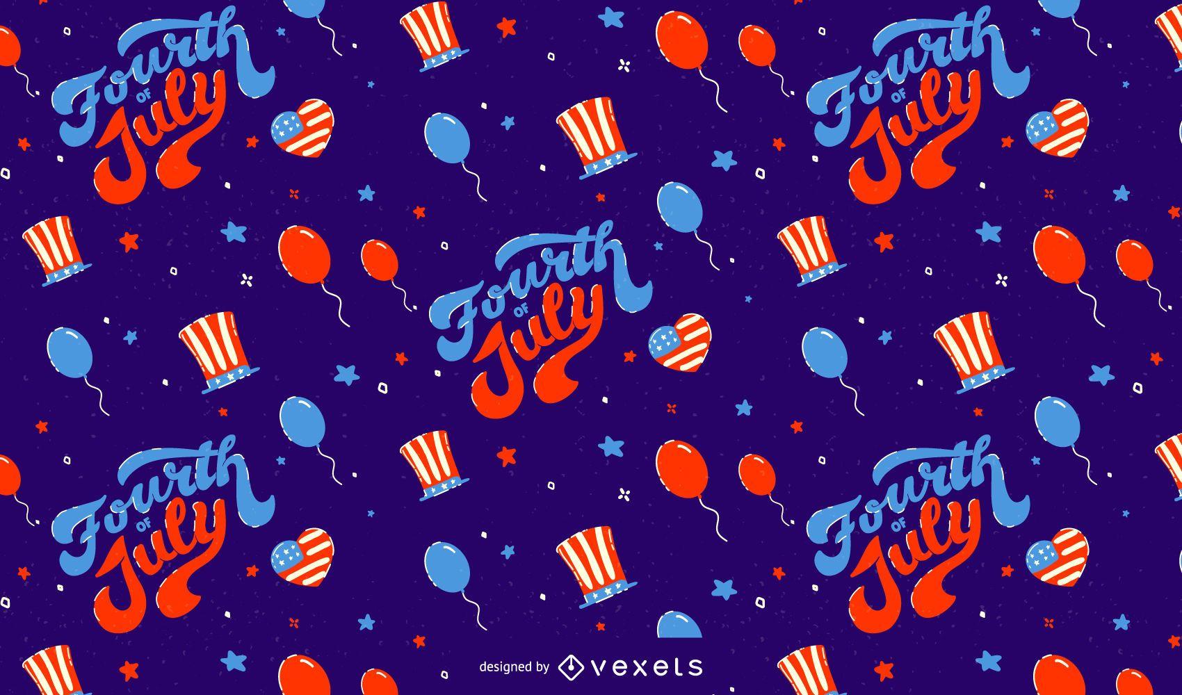 Diseño del patrón del cuatro de julio