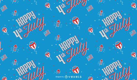 Feliz 4 de julho padrão de design