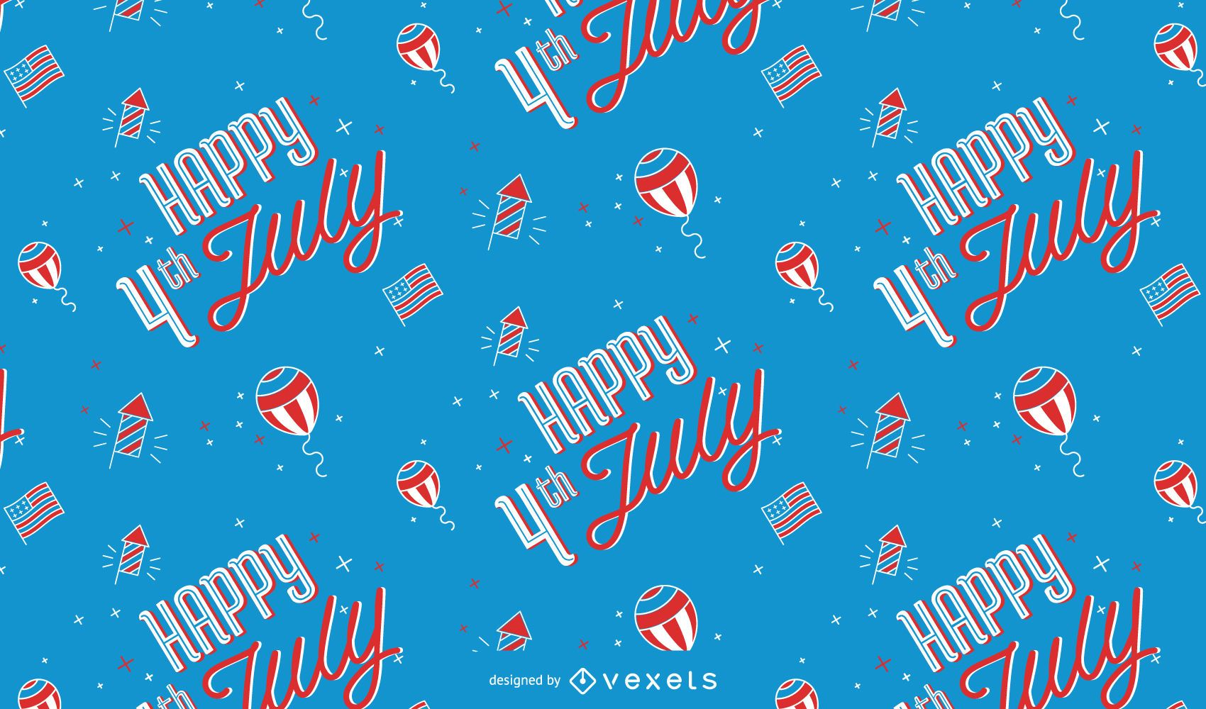 Happy 4th of july pattern design