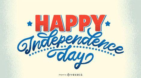 Feliz dia da independência de letras