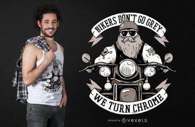 Design engraçado do t-shirt do texto do motociclista