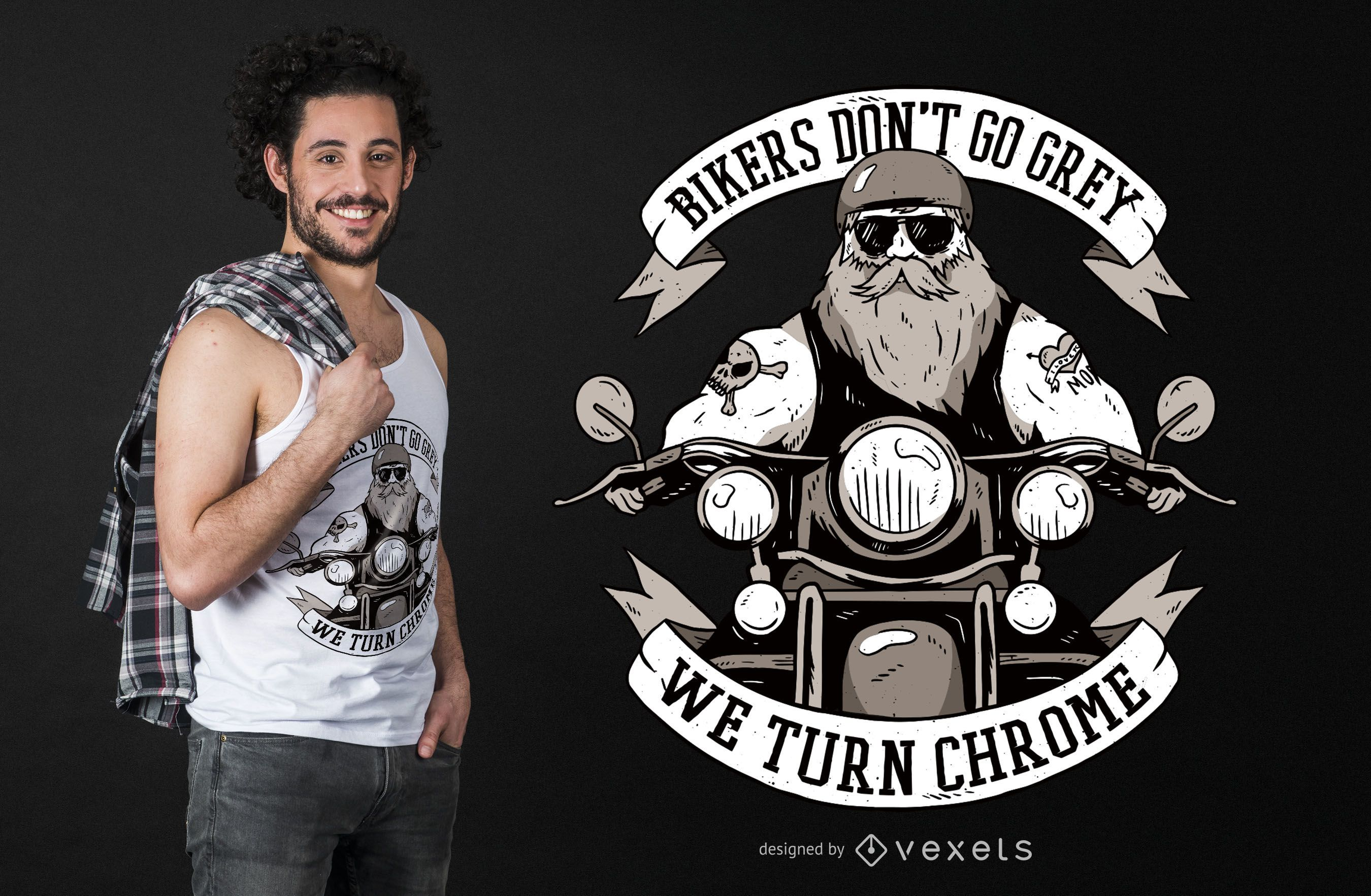 Funny Biker Text T-shirt Design