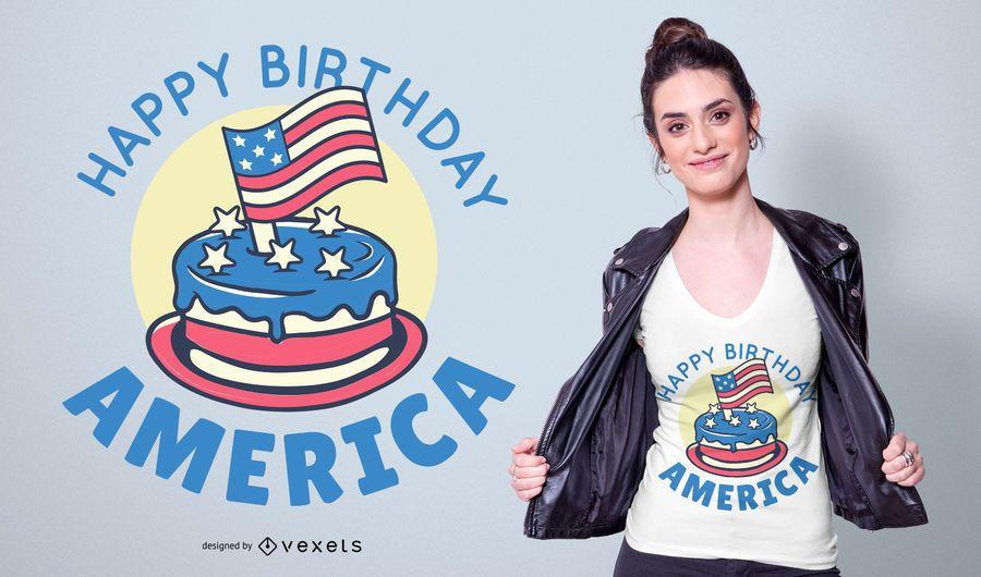 Happy Birthday America T-shirt Design