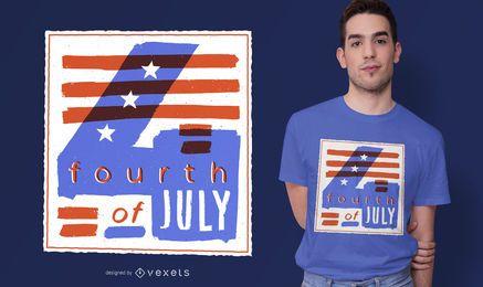Diseño de camiseta de ilustración del 4 de julio