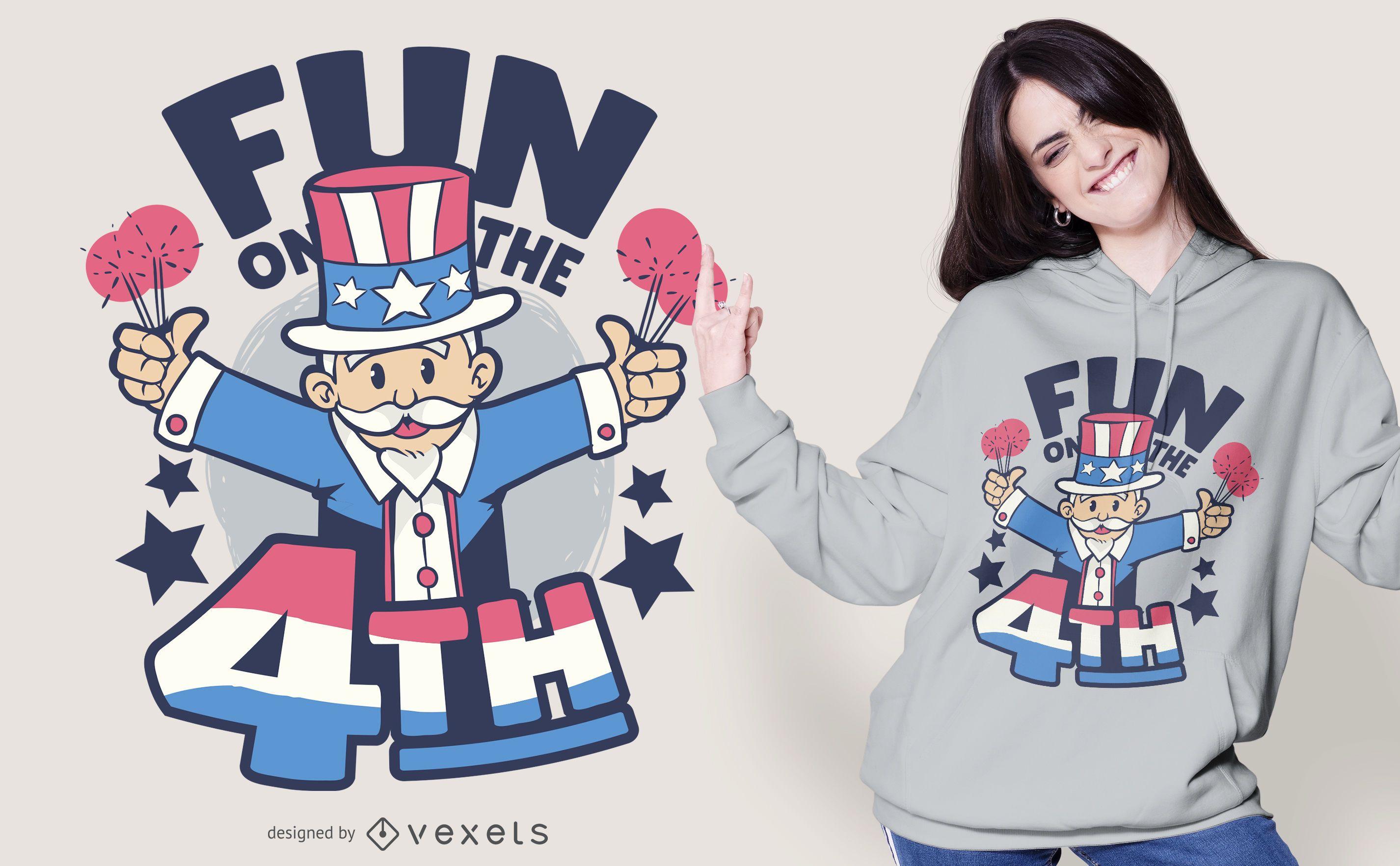 Fun on the 4th July T-shirt Design