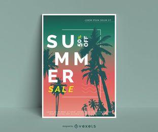 Diseño de cartel editable de venta de verano