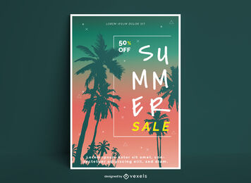 Summer Sale Editable Poster Design