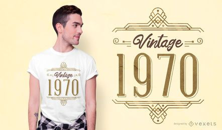 Diseño de camiseta vintage 1970