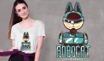 Design de t-shirt Robocat