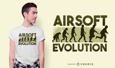Airsoft evolution t-shirt design
