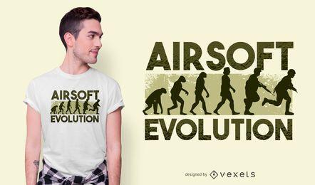 Diseño de camiseta de evolución Airsoft