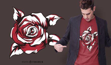 Diseño de camiseta rosa roja