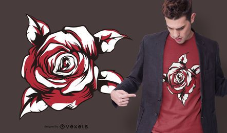 Red rose t-shirt design