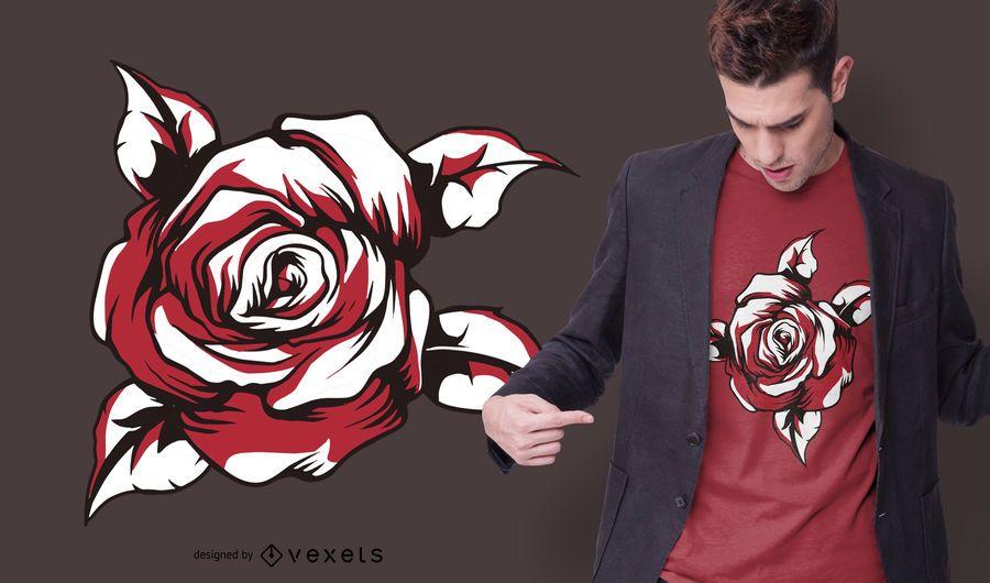 Red rose t-shirt design