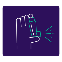 Covid 19 asthma stroke icon