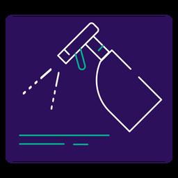 Covid 19 Desinfektionsmittel-Schlaganfall-Symbol