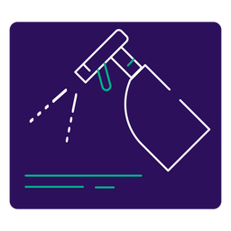 Covid 19 disinfectant stroke icon