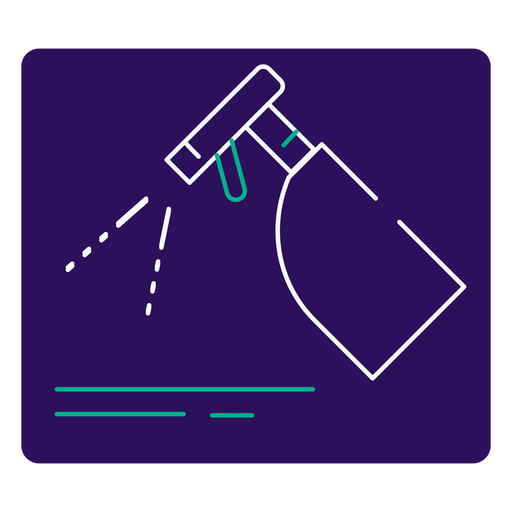 Covid 19 disinfectant stroke icon Transparent PNG