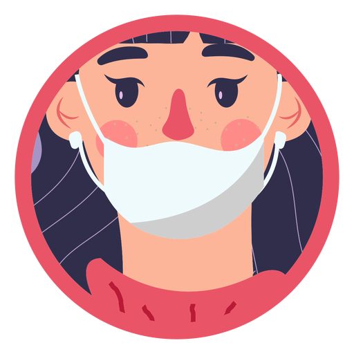 Covid 19 face mask girl Transparent PNG