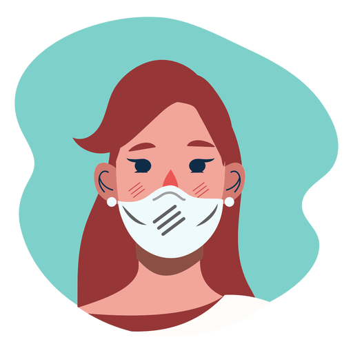 Covid 19 girl character icon Transparent PNG