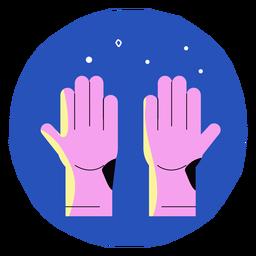 Covid 19 Handschuhe Symbol