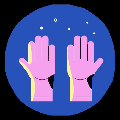 Icono de guantes Covid 19 Transparent PNG