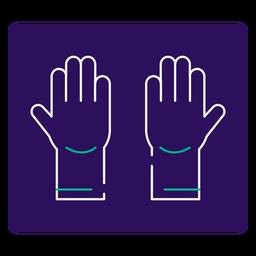Icono de trazo de guantes Covid 19
