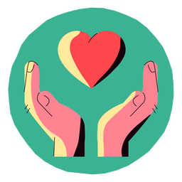 Covid 19 heart hands icon