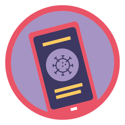Covid 19 phone icon