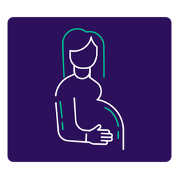 Covid 19 pregnant woman stroke icon