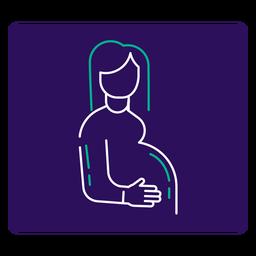 Covid 19 schwangere Frau Schlaganfall-Symbol