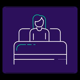 Covid 19 resting stroke icon