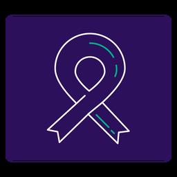 Covid 19 ribbon stroke icon