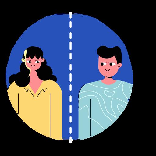 Ícone de pessoas que distanciam as pessoas da Covid 19
