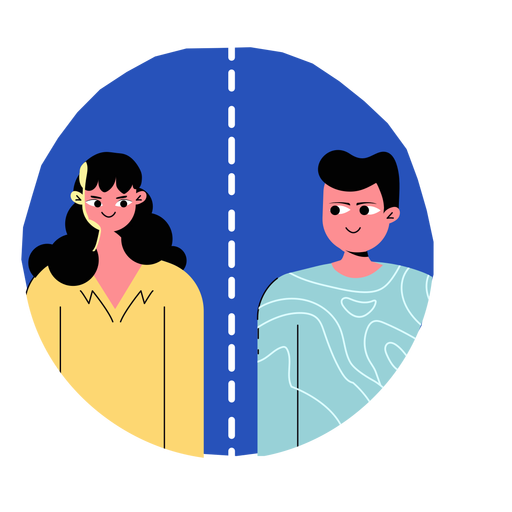 Icono de personas de distanciamiento social de Covid 19