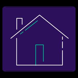 Covid 19 bleiben zu Hause Schlaganfall-Symbol