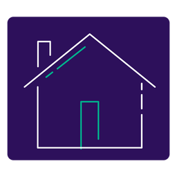 Covid 19 stay home stroke icon