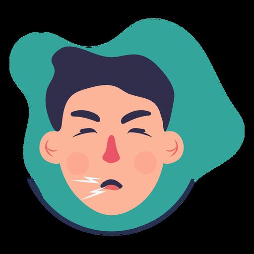 covid 19 symptom character cough transparent png svg vector file covid 19 symptom character cough